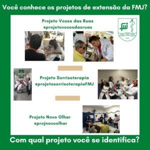 Você conhece os projetos de extensão da FMJ